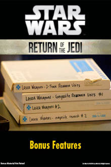 Star Wars: Return Of The Jedi Bonus Features The Movie